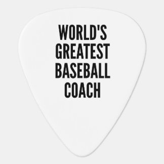Worlds Greatest Baseball Coach Guitar Pick
