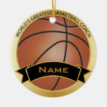 World's Greatest Basketball Coach | DIY Name Ceramic Ornament