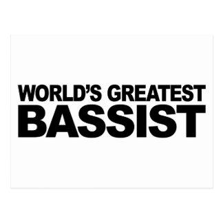World's Greatest Bassist Postcard
