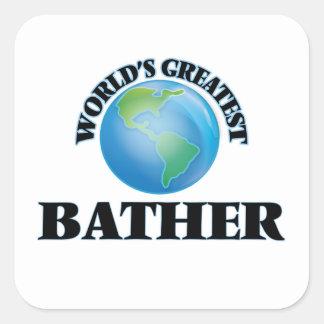 World's Greatest Bather Square Sticker