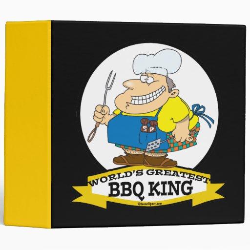 WORLDS GREATEST BBQ KING MEN CARTOON 3 RING BINDERS