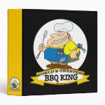 WORLDS GREATEST BBQ KING MEN CARTOON BINDER