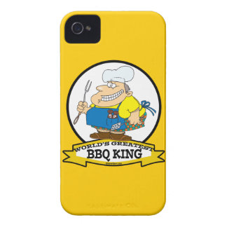 WORLDS GREATEST BBQ KING MEN CARTOON iPhone 4 COVER