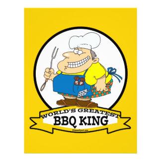 WORLDS GREATEST BBQ KING MEN CARTOON FLYER