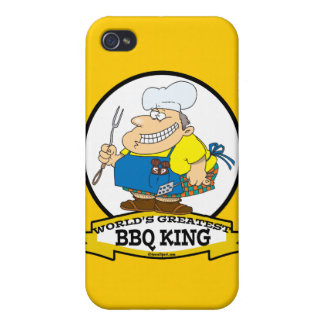 WORLDS GREATEST BBQ KING MEN CARTOON CASES FOR iPhone 4