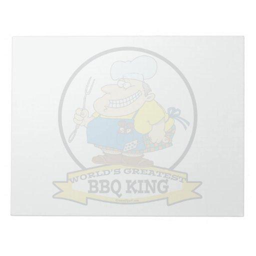WORLDS GREATEST BBQ KING MEN CARTOON MEMO NOTE PADS