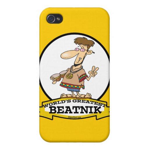 WORLDS GREATEST BEATNIK MEN CARTOON iPhone 4/4S COVERS