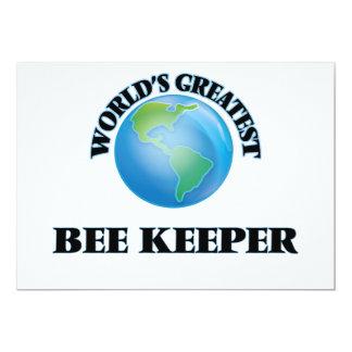 "World's Greatest Bee Keeper 5"" X 7"" Invitation Card"