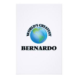 World's Greatest Bernardo Personalized Stationery