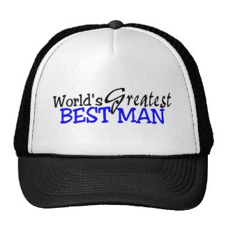 Worlds Greatest Best Man Hats