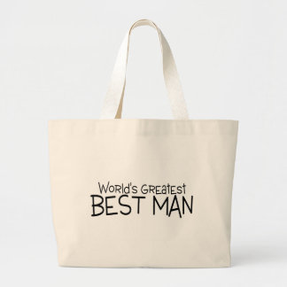 Worlds Greatest Best Man Large Tote Bag
