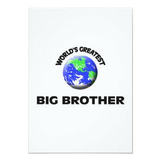 World's Greatest Big Brother 5x7 Paper Invitation Card
