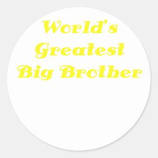 Worlds Greatest Big Brother Classic Round Sticker