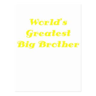Worlds Greatest Big Brother Postcard