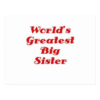 Worlds Greatest Big Sister Postcard
