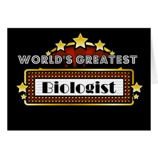 World's Greatest Biologist Card