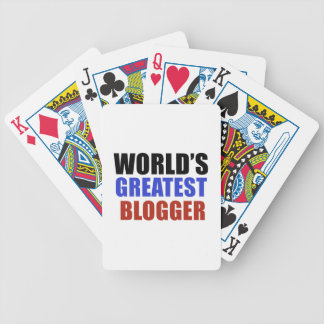 World's greatest BLOGGER Bicycle Playing Cards