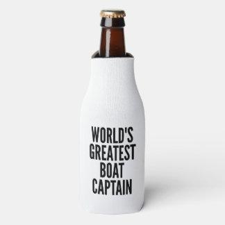 Worlds Greatest Boat Captain Bottle Cooler