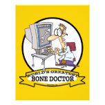 "WORLDS GREATEST BONE DOCTOR MEN CARTOON 8.5"" X 11"" FLYER"