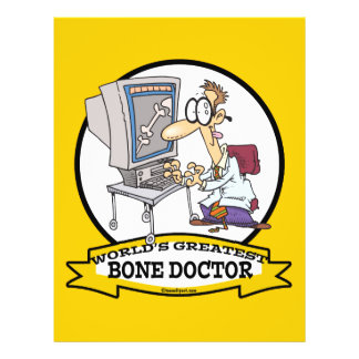 WORLDS GREATEST BONE DOCTOR MEN CARTOON FLYER