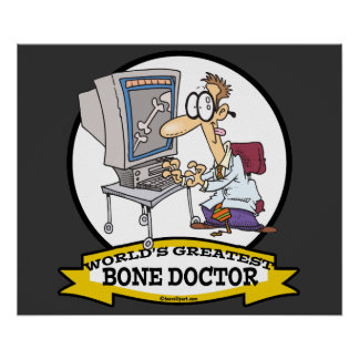 WORLDS GREATEST BONE DOCTOR MEN CARTOON PRINT