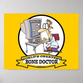 WORLDS GREATEST BONE DOCTOR MEN CARTOON POSTERS