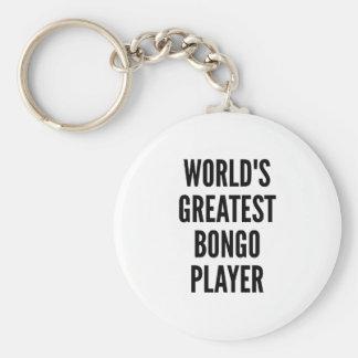 Worlds Greatest Bongo Player Basic Round Button Keychain