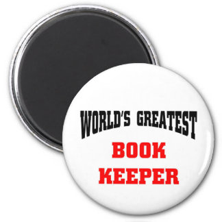 World's greatest book keeper 2 inch round magnet