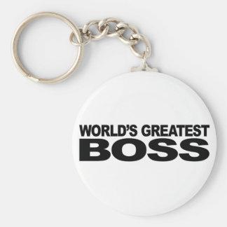 World's Greatest Boss Basic Round Button Keychain