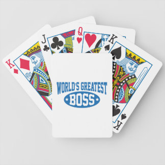 World's Greatest Boss Bicycle Playing Cards