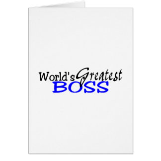 Worlds Greatest Boss Black Blue Card