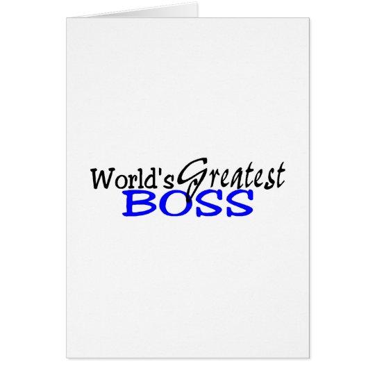 Worlds Greatest Boss Black Blue Card