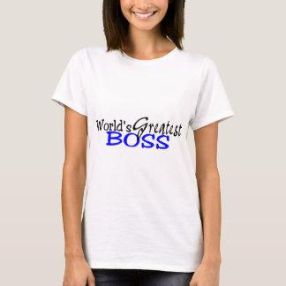 Worlds Greatest Boss Black Blue T-Shirt
