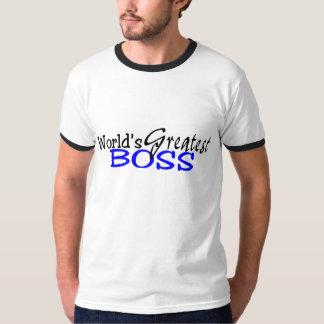 Worlds Greatest Boss Black Blue T Shirt