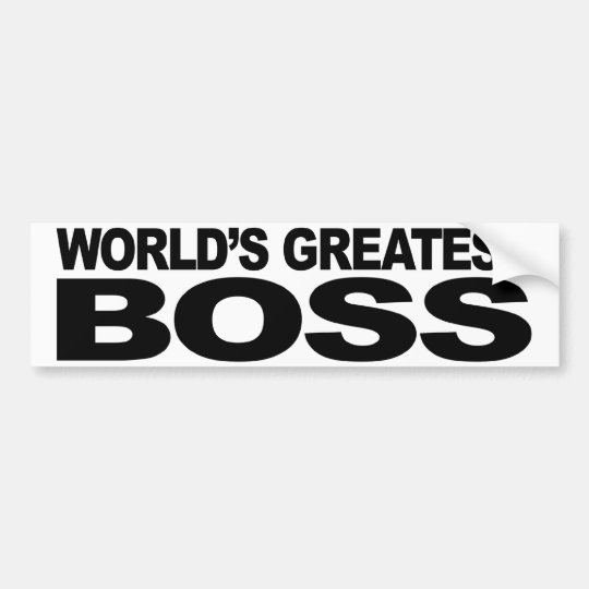 World's Greatest Boss Bumper Sticker