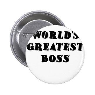 Worlds Greatest Boss Pinback Button