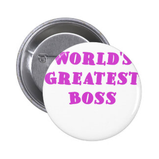Worlds Greatest Boss Pin