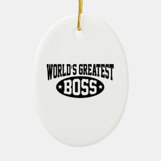 World's Greatest Boss Ceramic Ornament
