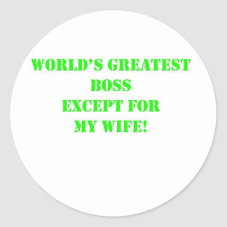 World's Greatest Boss Classic Round Sticker