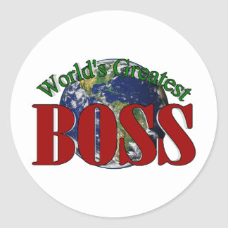 World's Greatest Boss Classic Round Sticker