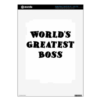 Worlds Greatest Boss Decals For iPad 3