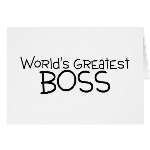 Worlds Greatest Boss Greeting Card