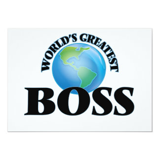 "World's Greatest Boss 5"" X 7"" Invitation Card"