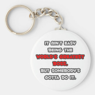 World's Greatest Boss Joke Keychain