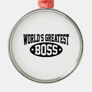 World's Greatest Boss Metal Ornament