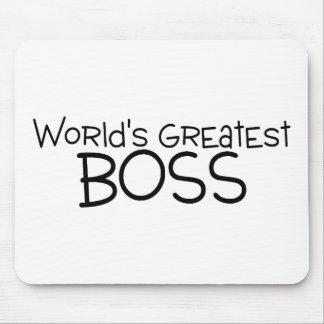 Worlds Greatest Boss Mouse Pad