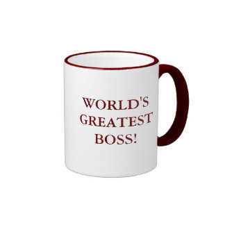 WORLD'S GREATEST BOSS RINGER COFFEE MUG