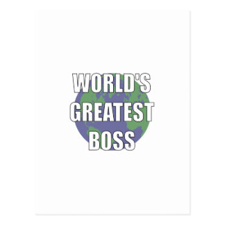 World's Greatest Boss Post Card