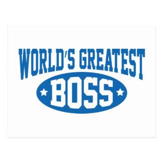 World's Greatest Boss Postcard