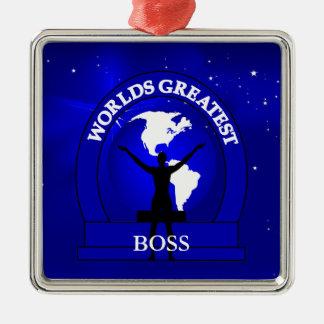 Worlds Greatest Boss Premium Christmas Ornament